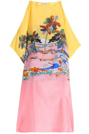 EMILIO PUCCI Draped printed silk cover up