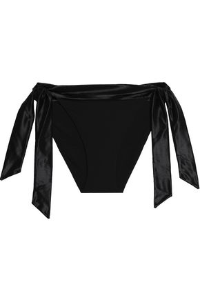 LA PERLA Satin-trimmed low-rise bikini briefs