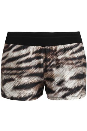 ROBERTO CAVALLI BEACHWEAR Zebra-print silk shorts