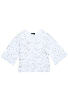 ANTIK BATIK Cropped macramé cotton top