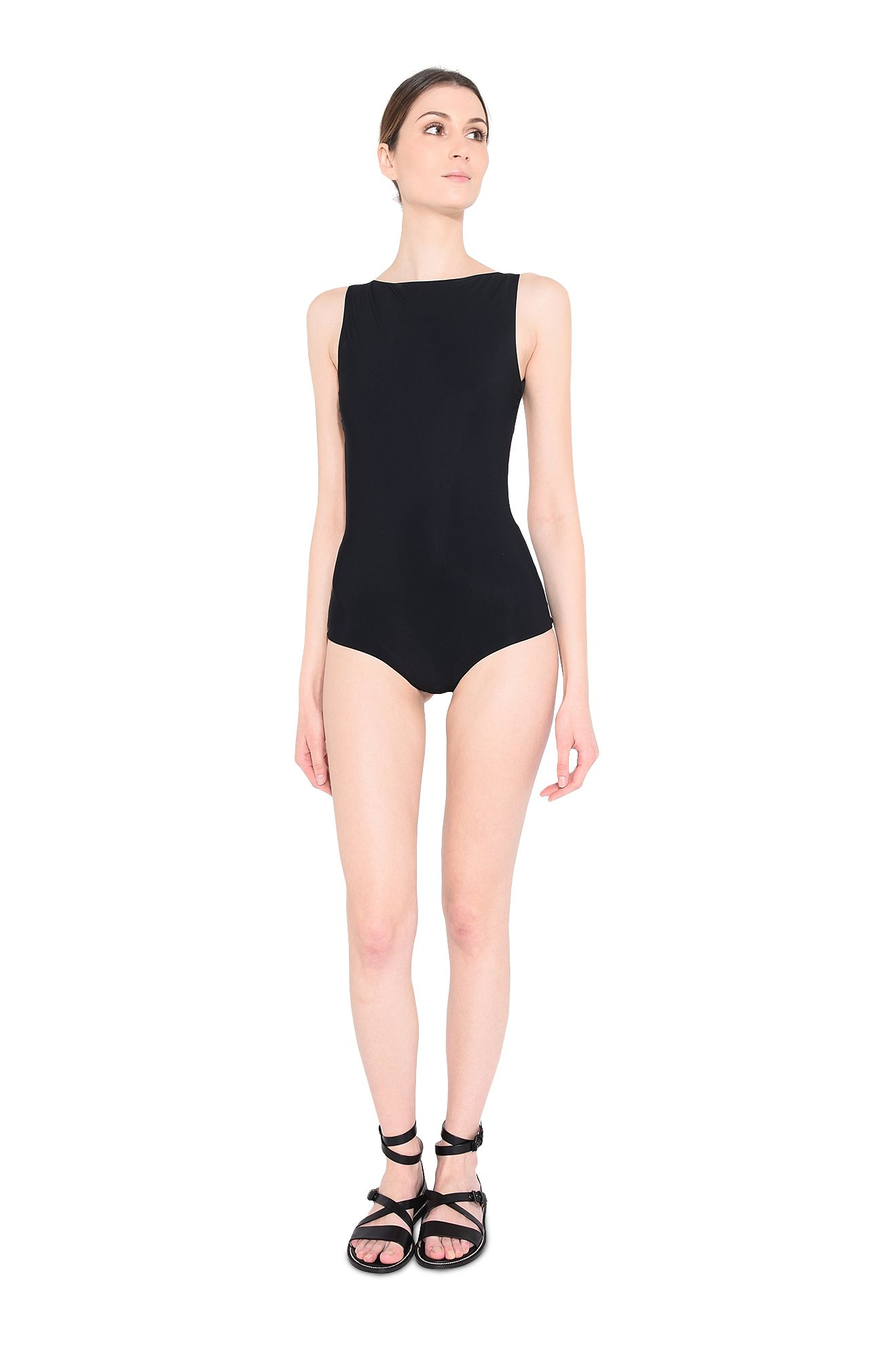 Black lycra swimsuit