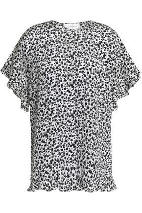 ZIMMERMANN Ruffle-trimmed polka-dot silk crepe de chine blouse