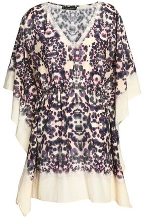 VIX PAULA HERMANNY Printed cotton and silk-blend kaftan