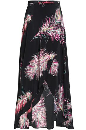 VIX PAULAHERMANNY Printed silk coverup