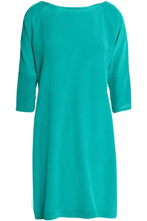 VIX PAULA HERMANNY Button-detailed silk crep de chine mini dress