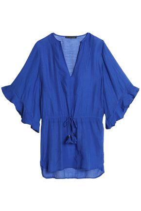 VIX PAULAHERMANNY Ruffle-trimmed voile coverup