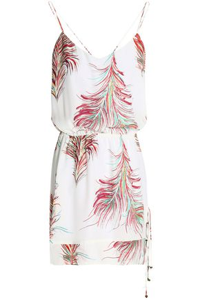 VIX PAULAHERMANNY Layered printed silk mini dress