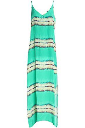 VIX PAULA HERMANNY Printed silk crepe de chine maxi dress