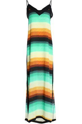 VIX PAULA HERMANNY Striped crepe maxi dress