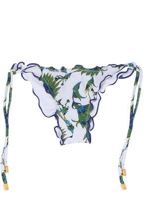 VIX PAULAHERMANNY Ruffled floral-print low-rise bikini briefs