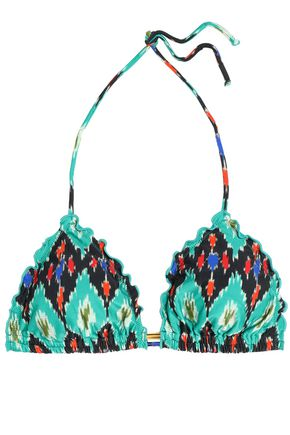 VIX PAULAHERMANNY Ruffled printed low-rise bikini briefs