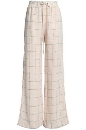 ZIMMERMANN Checked linen wide-leg pants