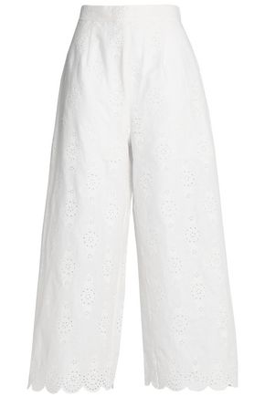 ZIMMERMANN Valour broderie anglaise linen and cotton-blend culottes