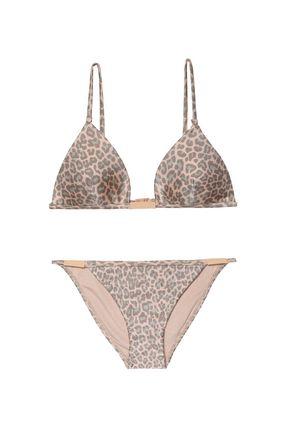 ZIMMERMANN Valour leopard-print triangle bikini