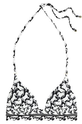 STELLA McCARTNEY Printed stretch-knit triangle bikini