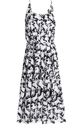 STELLA McCARTNEY Printed cotton and silk-blend coverup