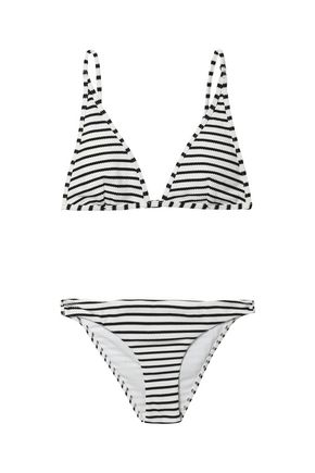 ZIMMERMANN Striped knitted bikini top