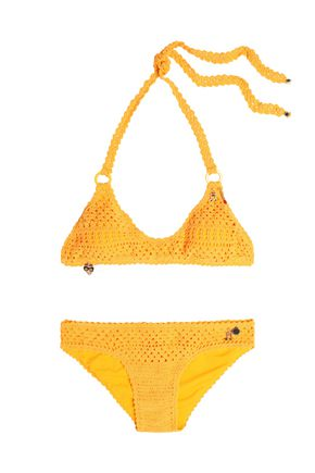 STELLA McCARTNEY Embellished crocheted bikini