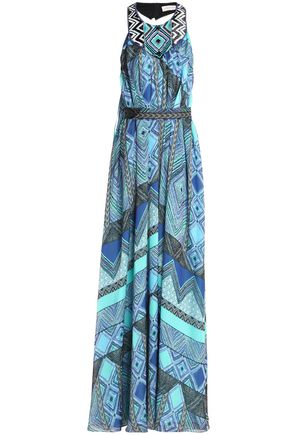 MATTHEW WILLIAMSON Wrap-effect printed silk-chiffon gown