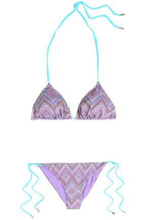 MATTHEW WILLIAMSON Printed triangle bikini
