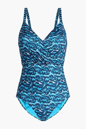 MATTHEW WILLIAMSON Open-back printed swimsuit