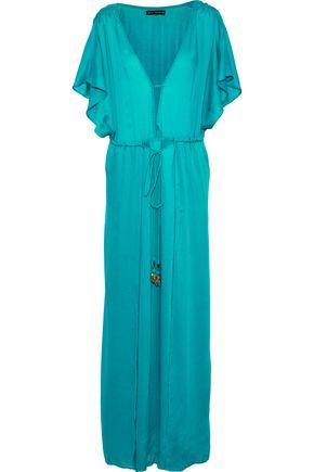 VIX PAULAHERMANNY Embellished gauze maxi dress