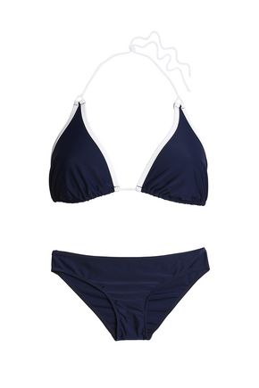 PERFECT MOMENT Two-tone stretch-knit bikini