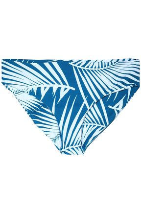 MIKOH Low-rise two-tone printed bikin briefs