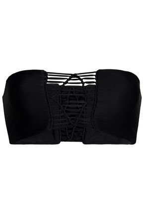 MIKOH Knotted cutout stretch-knit bandeau