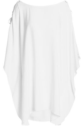 HEIDI KLUM SWIM Draped cady lace up cover up