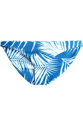 MIKOH Low-rise two-tone printed stretch-knit bikini briefs