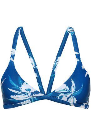 MIKOH Floral-print triangle bikini top