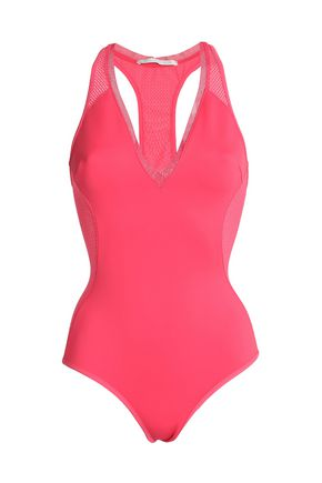 STELLA McCARTNEY Cutout mesh-paneled swimsuit