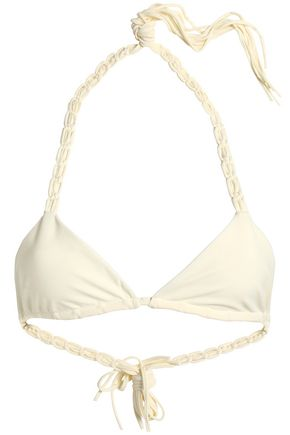MIKOH Braid-trimmed triangle bikini top