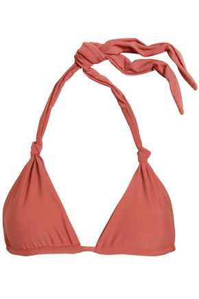 MIKOH Knotted triangle bikini top
