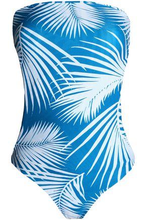MIKOH Santorini printed bandeau swimsuit