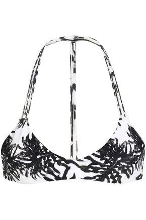 MIKOH Printed bikini top