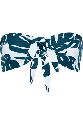 MIKOH Loihi knotted printed bandeau bikini top