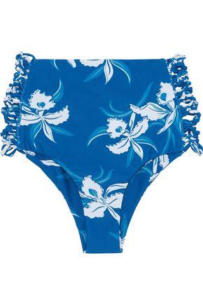 MIKOH High-rise knotted floral-print bikini briefs
