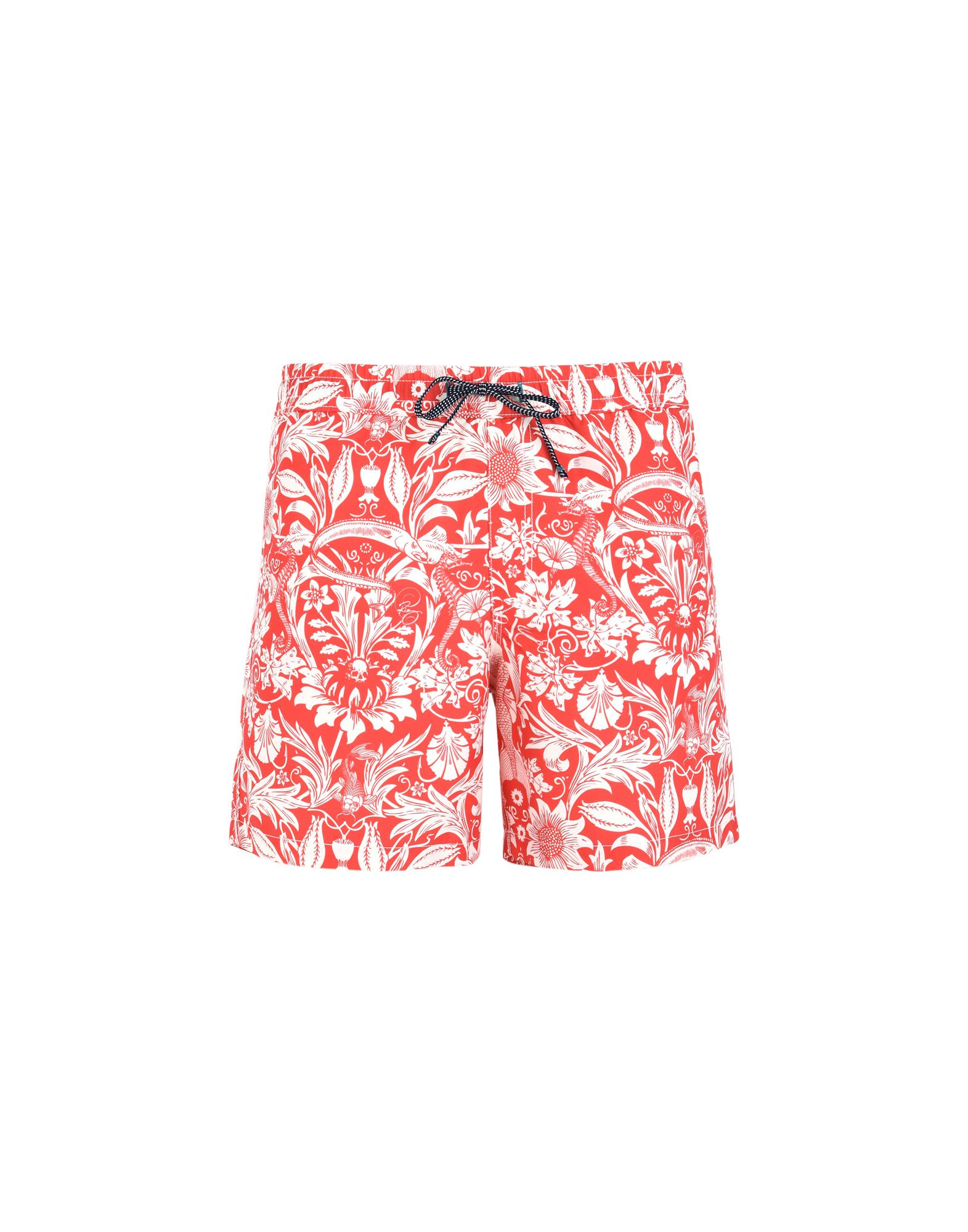 RIZ BOARDSHORTS Swim Shorts in Red