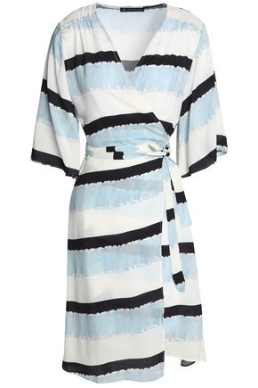 VIX PAULAHERMANNY Striped crepe wrap dress