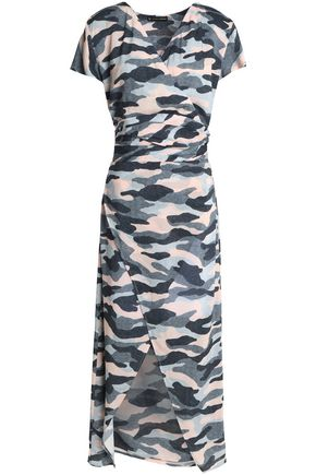 VIX PAULAHERMANNY Printed gauze wrap dress