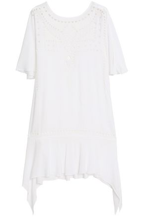 VIX PAULA HERMANNY Cutout embroidered voile coverup