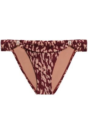 VIX PAULAHERMANNY Leopard-print low-rise bikini briefs