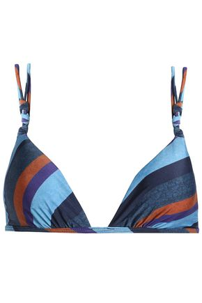 VIX PAULAHERMANNY Striped triangle bikini top
