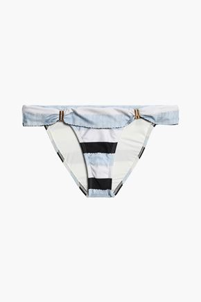 VIX PAULA HERMANNY Bia striped low-rise bikini briefs