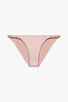VIX PAULA HERMANNY Knotted faux suede low-rise bikini briefs