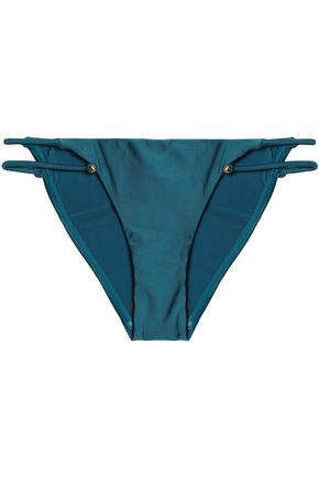 VIX PAULAHERMANNY Embellished low-rise bikini briefs