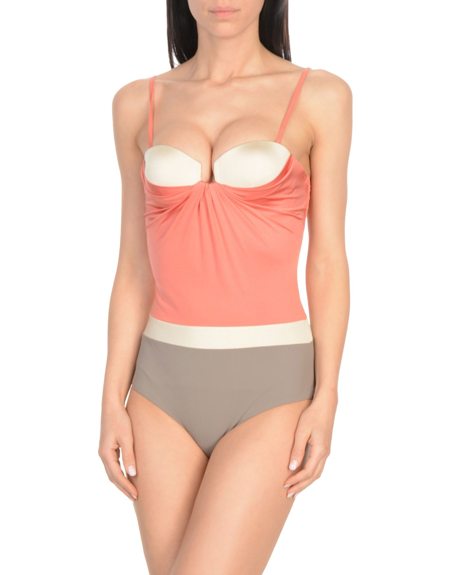 MOEVA One-Piece Swimsuits in Pastel Pink