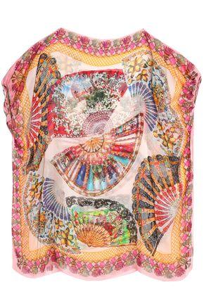 DOLCE & GABBANA Printed silk-chiffon coverup